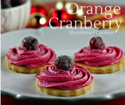 Orangee Shortbread Cookies