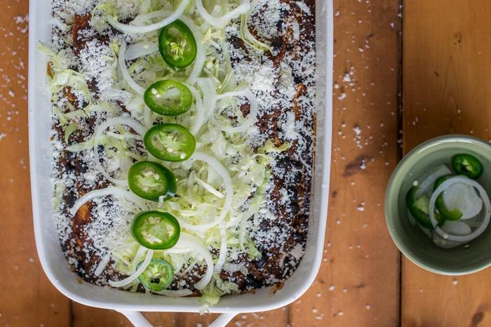 jalapenos top enchiladas