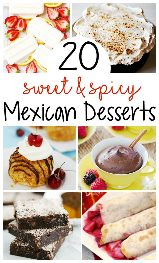 20 Mexican Desserts for Cinco de Mayo! Desserts that are both sweet and spicy! These Mexican desserts make perfect additions to your Cinco de Mayo menu! You'll find everything from Flan to Fried Ice Cream to Tres Leches cake and so much more! #CincoDeMayo #MexicanDesserts #CincoDeMayoMenu  via @mrsmajorhoff