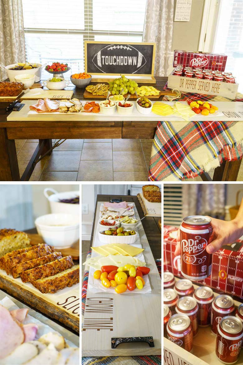 dr pepper football party spread