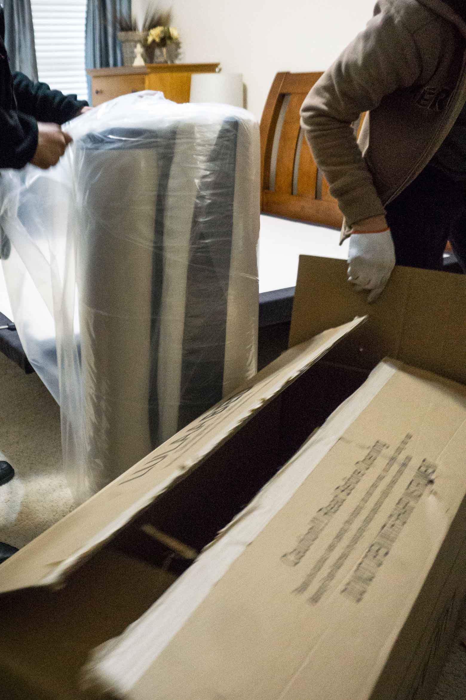 unwrapping foam LulaaBED mattress