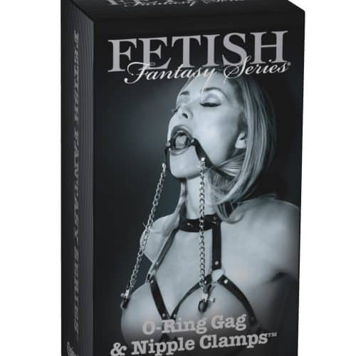 FETISH FANTASY LIMITED EDITION O RING BALL GAG & NIPPL