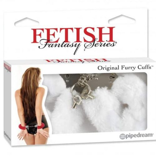 FETISH FANTASY ORIGINAL FUR HANDCUFFS-WHITE