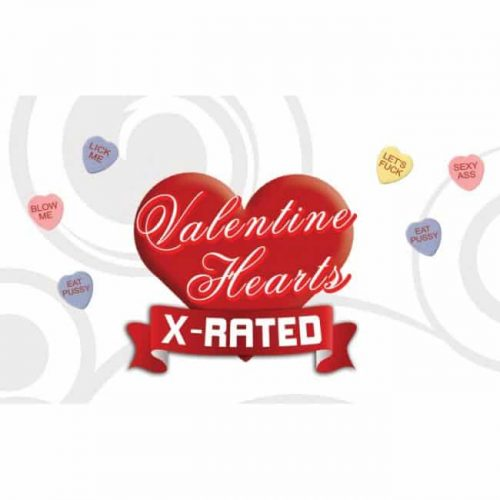 VALENTINES X RATED HEART CANDY W/ ASSORTED SAYINGS (EACHES)