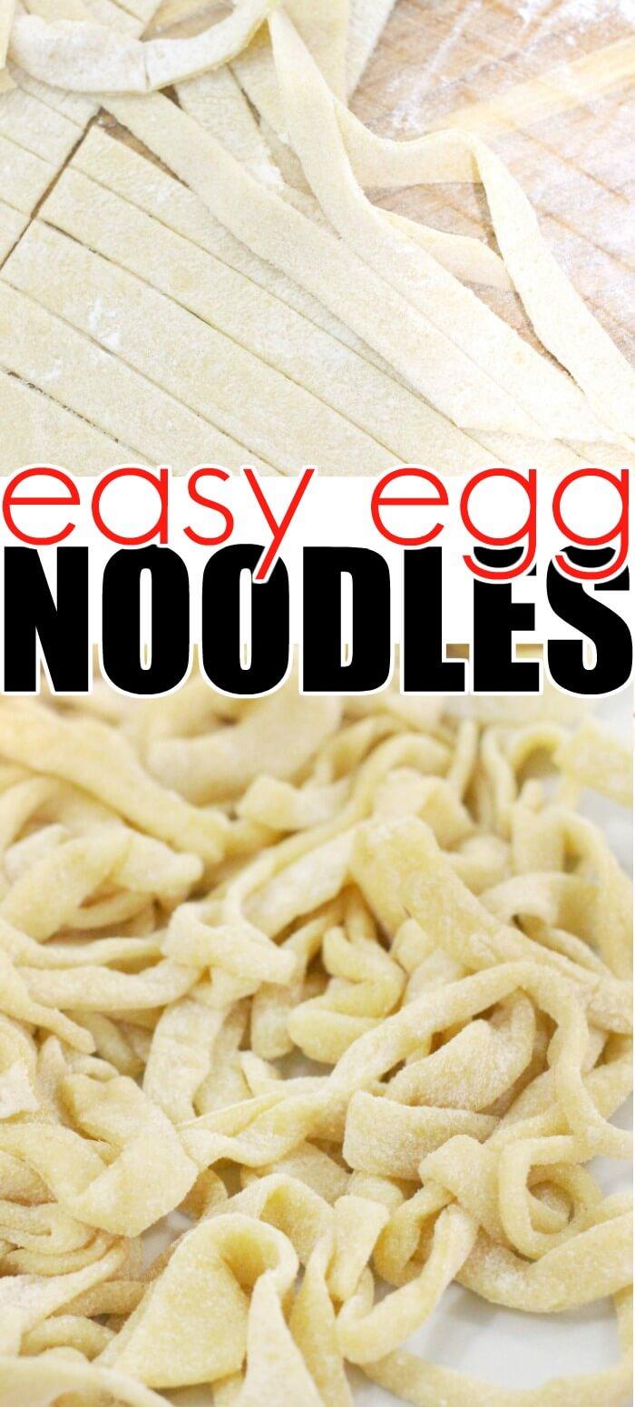 EASY EGG NOODLES