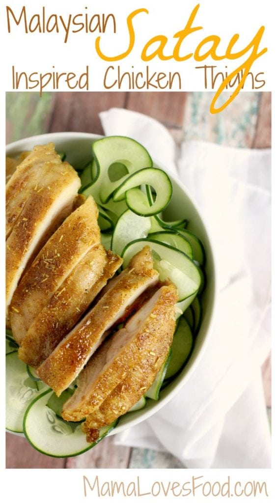 Malaysian Satay Inspired Chicken Thighs