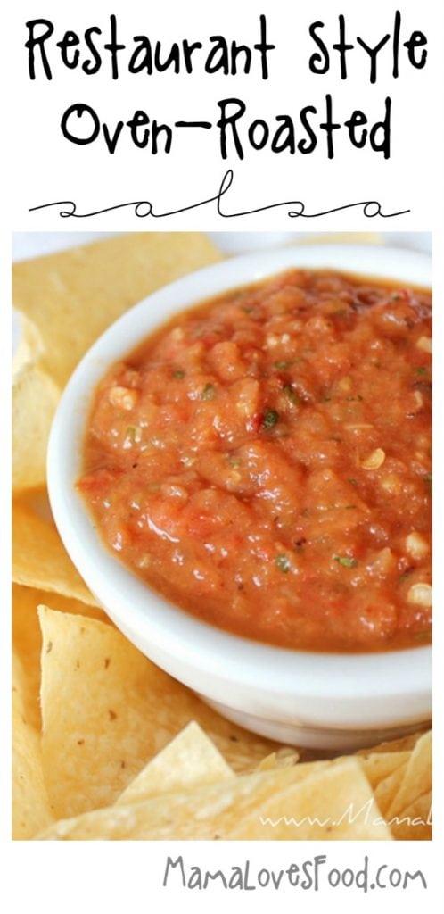 Restaurant Style Roasted Tomato and Garlic Salsa Recipe