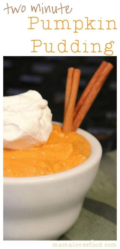 Two Minute Pumpkin Pudding.
