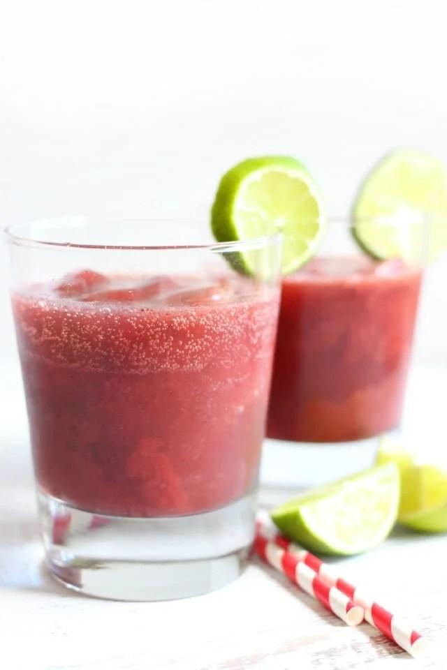 Sparkling Dark Cherry Lime Slush Recipe