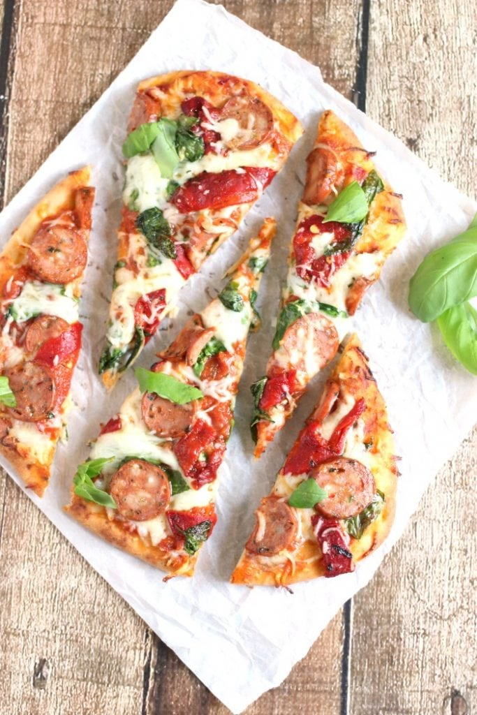 Sausage and Peppers Flatbread