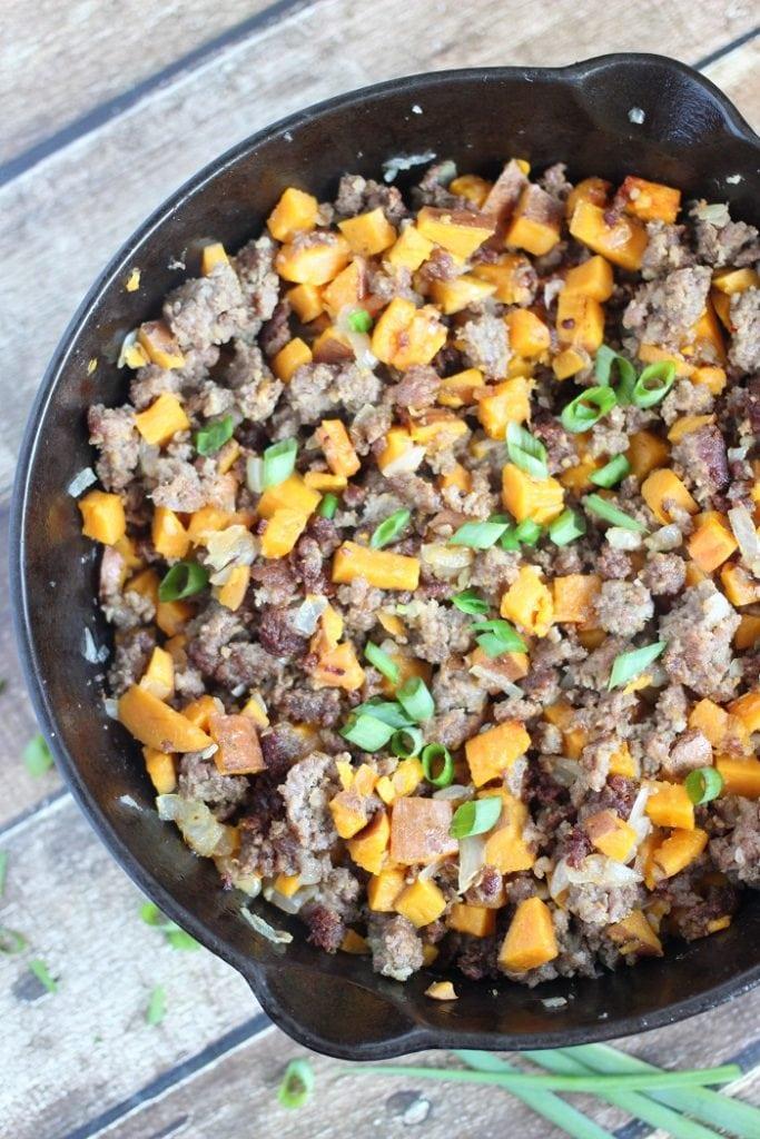 Sweet Potato and Sausage Hash