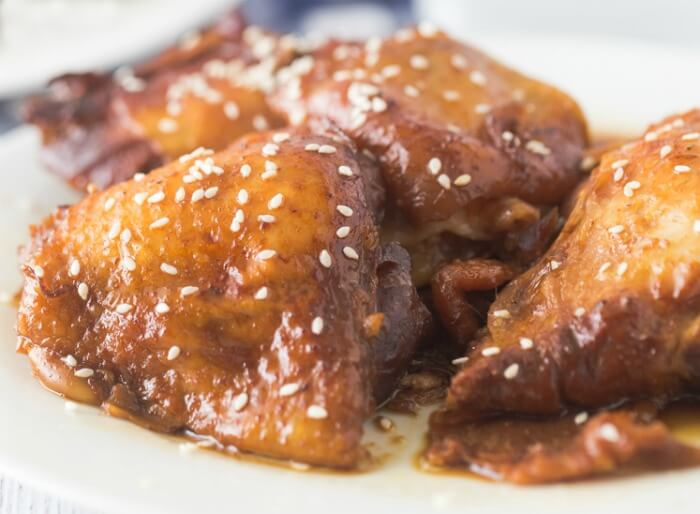 slow cooker honey garlic chicken thighs