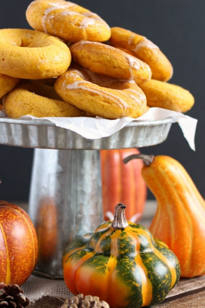 Easy Baked Pumpkin Spice Donuts Recipe with Maple Nutmeg Glaze