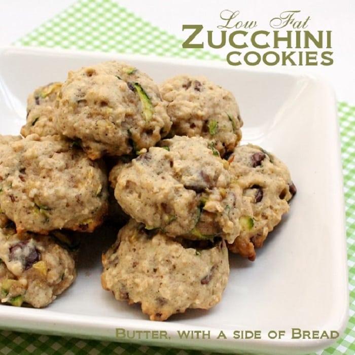 Low Fat Zucchini Cookies