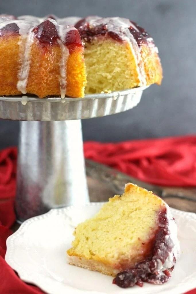 upsidedown cranberry cake