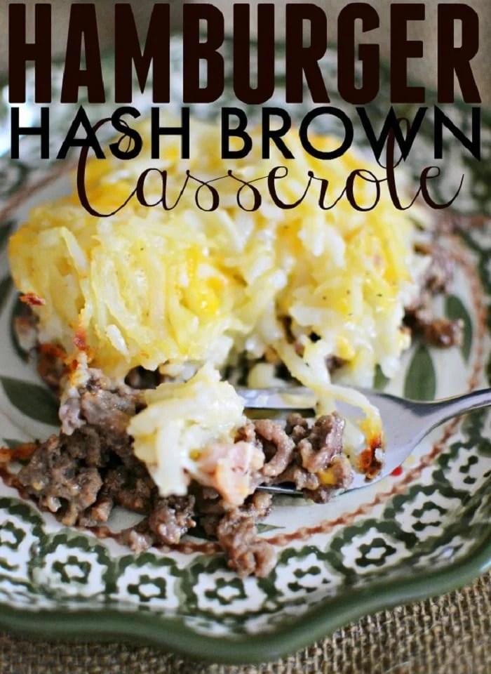 Hamburger Hash Brown Casserole