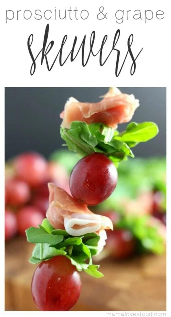 Grape and Prosciutto Skewers Appetizer Recipe