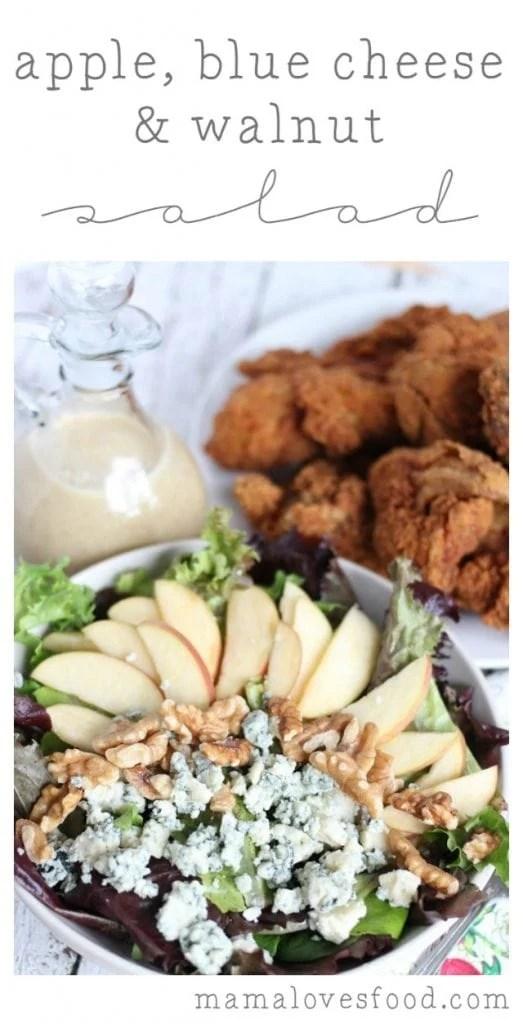 Apple, Blue Cheese & Walnut Salad Recipe