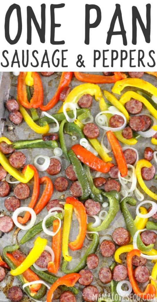 One Pan Sausage and Peppers Recipe