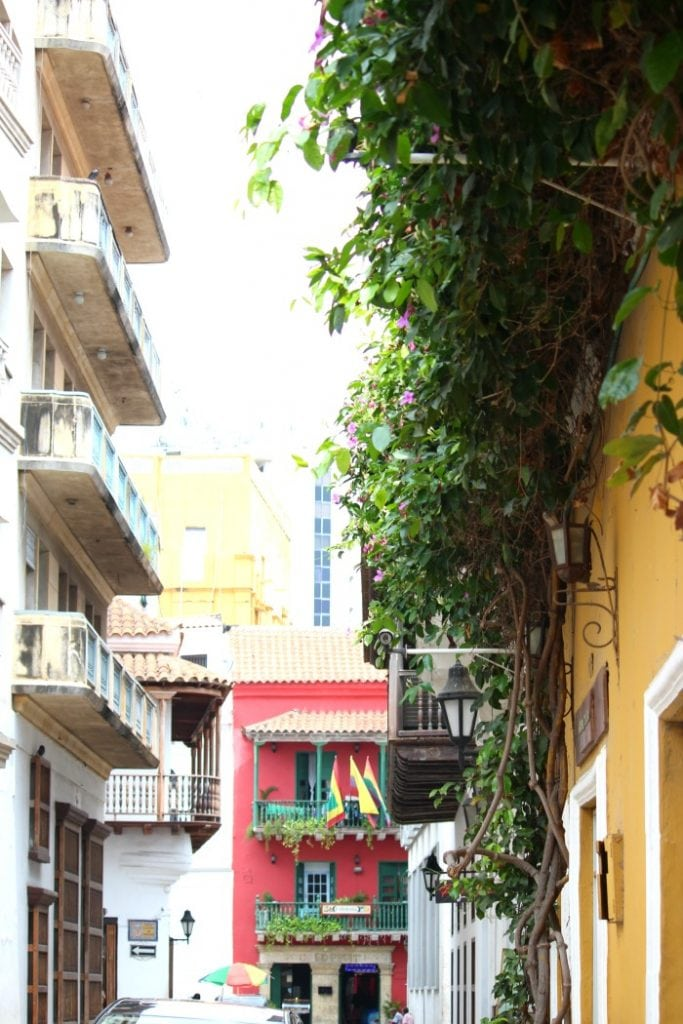 colorful buildings in cartagena colombia