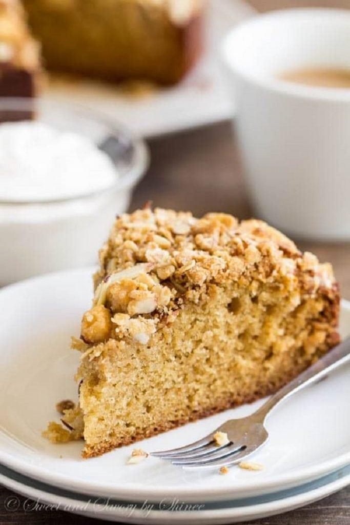 Pear Crumb Coffee Cake