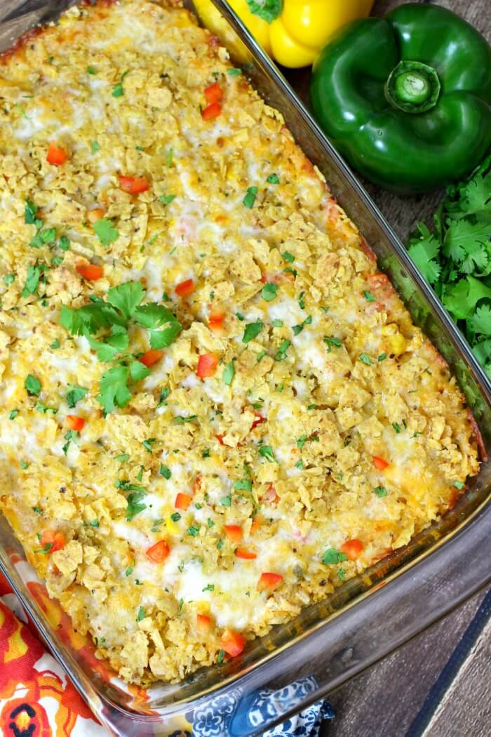 TACO CASSEROLE WITH CHICKEN AND RICE