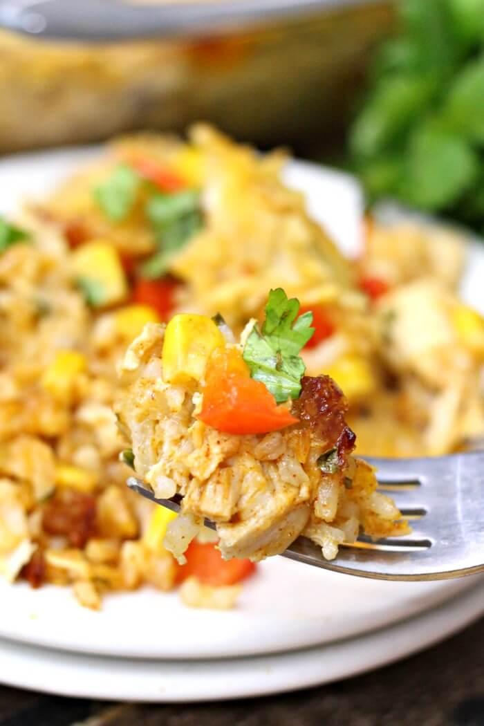 chicken taco casserole healthy