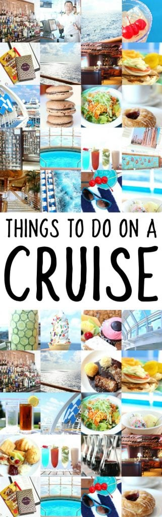 THINGS TO DO ON YOUR CRUISE