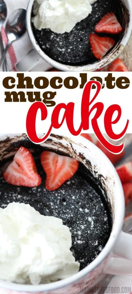 DARK CHOCOLATE MUG CAKE