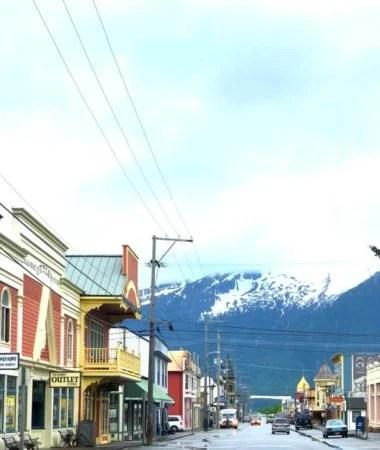 SKAGWAY ALASKA DOWNTOWN