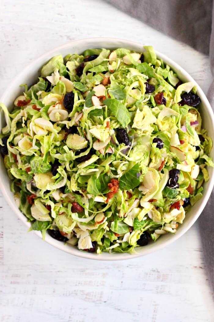 RAW BRUSSEL SPROUT SALAD