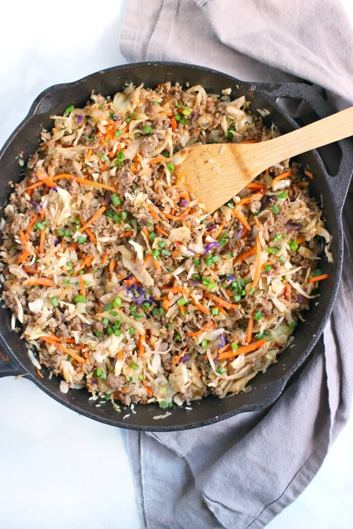 EGG ROLL IN A BOWL SKILLET