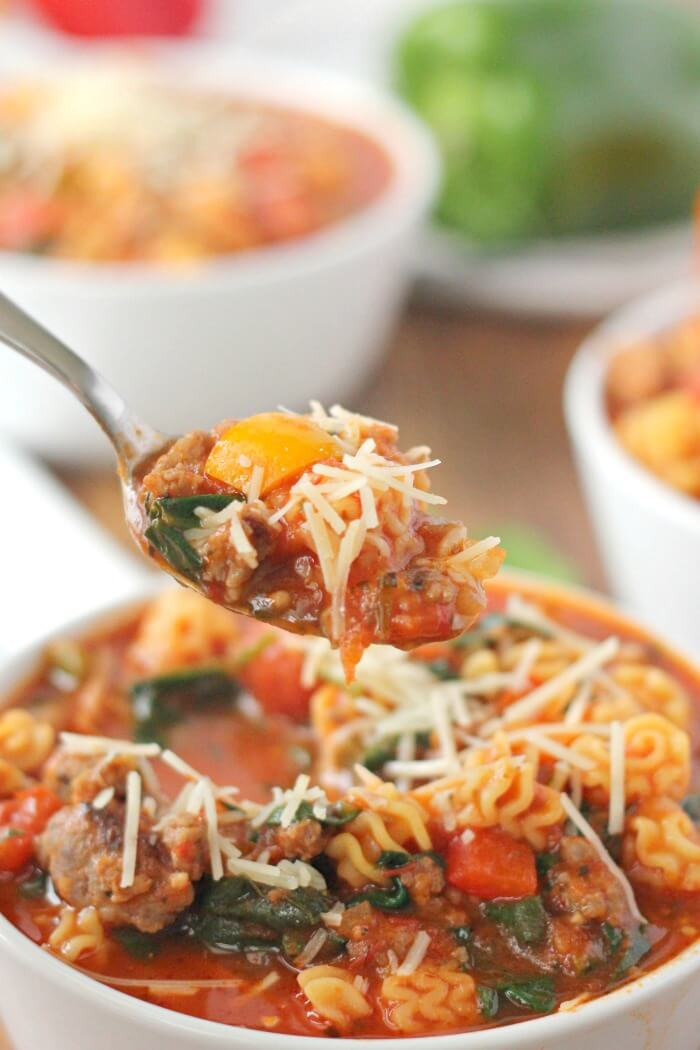 RECIPE FOR ITALIAN SOUP WITH SAUSAGE
