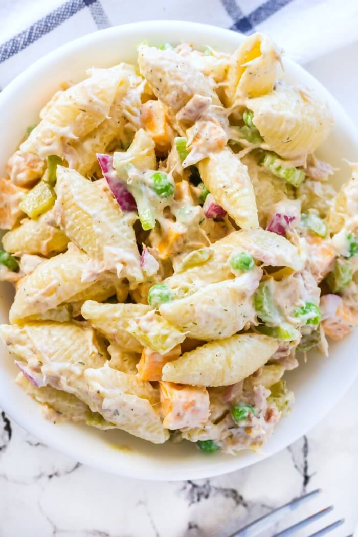 CREAMY TUNA PASTA SALAD RECIPE