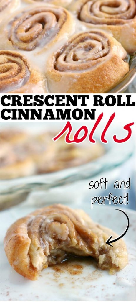 EASY SUGAR AND CINNAMON CRESCENT ROLLS