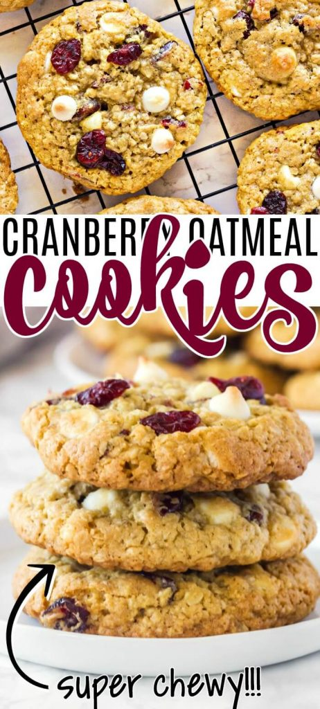 OATMEAL CRANBERRY WHITE CHOCOLATE COOKIE RECIPE