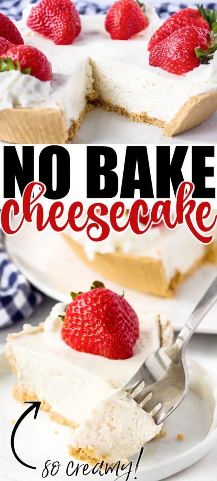 EASY RECIPE FOR NO BAKE CHEESECAKE