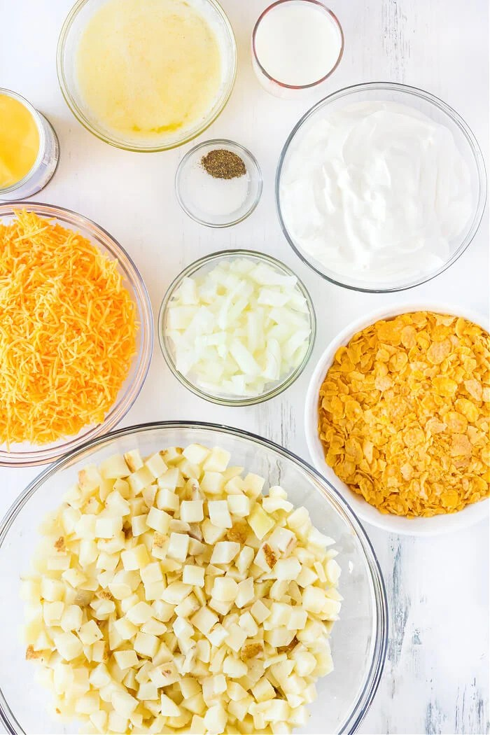 FUNERAL POTATOES INGREDIENTS
