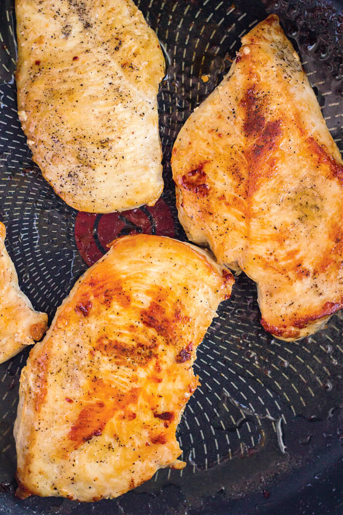 COOKING CHICKEN ON STOVE