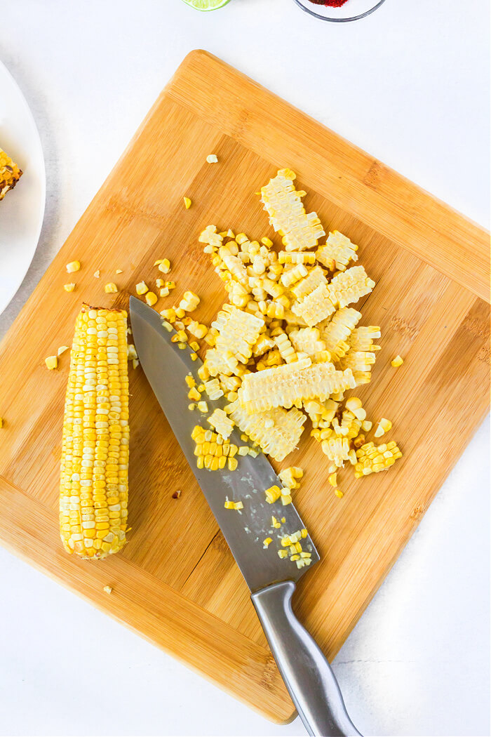 ROASTED CORN FOR MEXICAN ELOTE SALAD