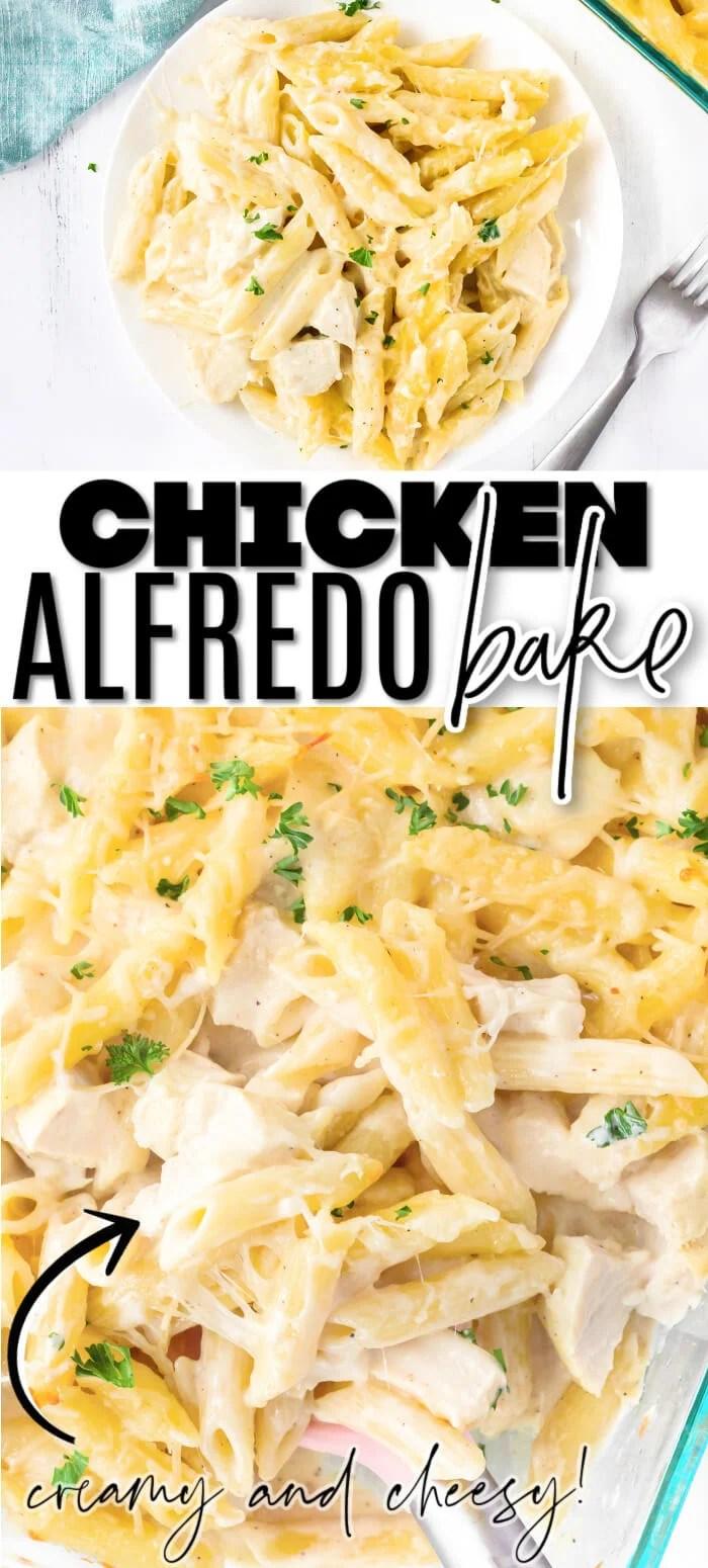 EASY CHICKEN ALFREDO BAKE