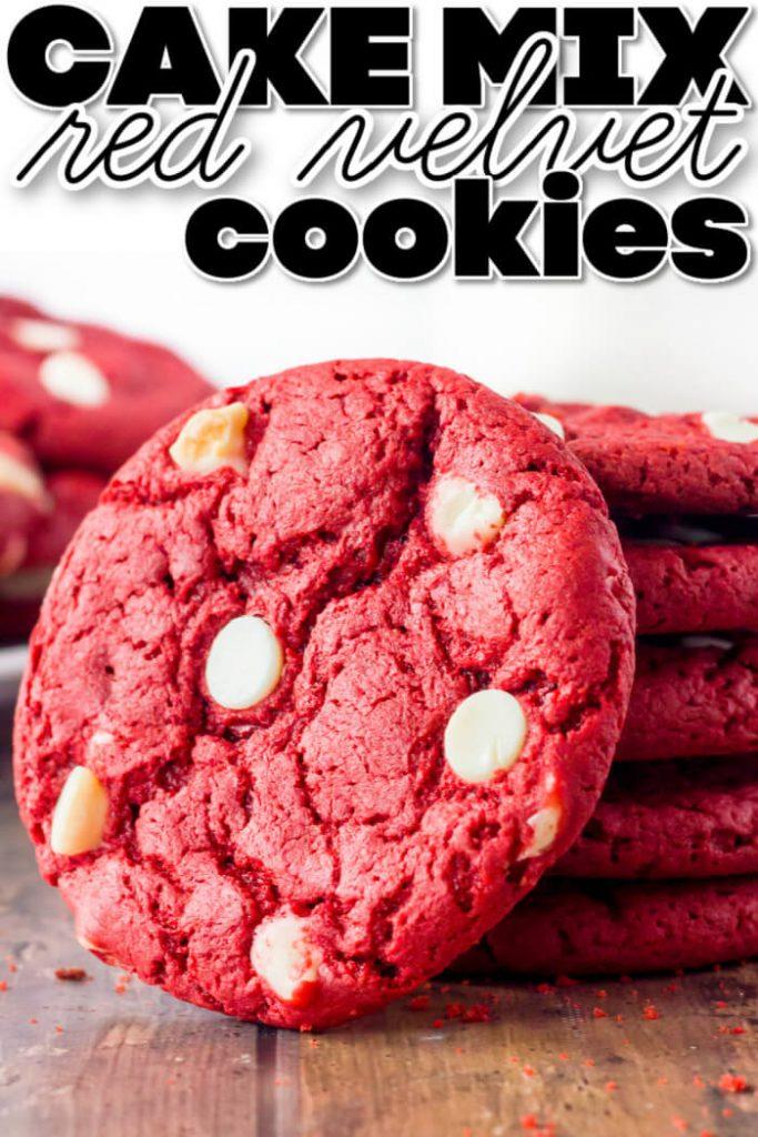 EASY RED VELVET CAKE MIX COOKIES