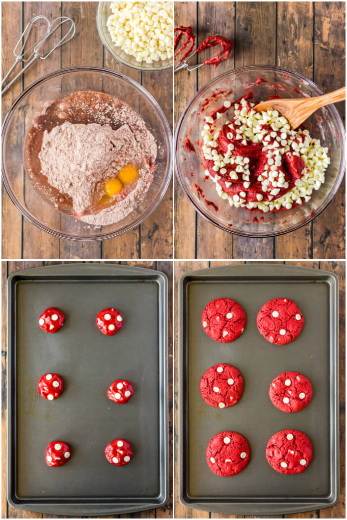 HOW TO MAKE RED VELVET CAKE MIX COOKIES