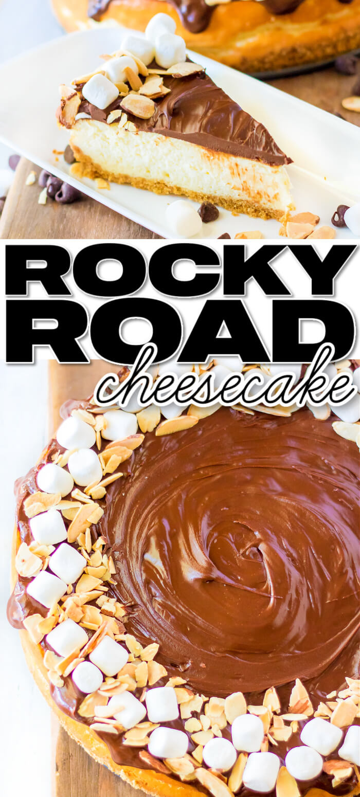 BEST HOMEMADE ROCKY ROAD CHEESECAKE RECIPE