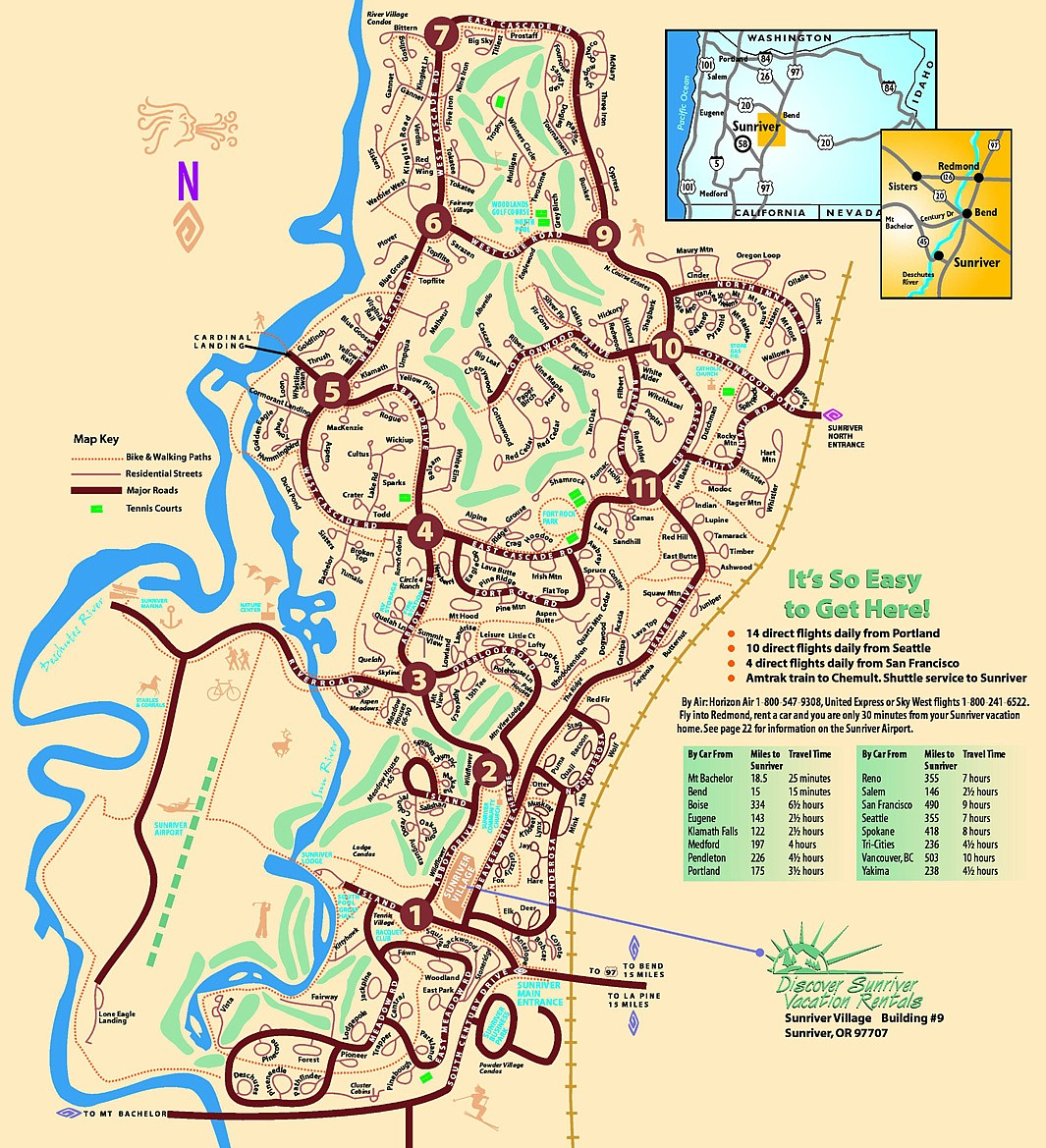 Printable Map Sunriver Oregon