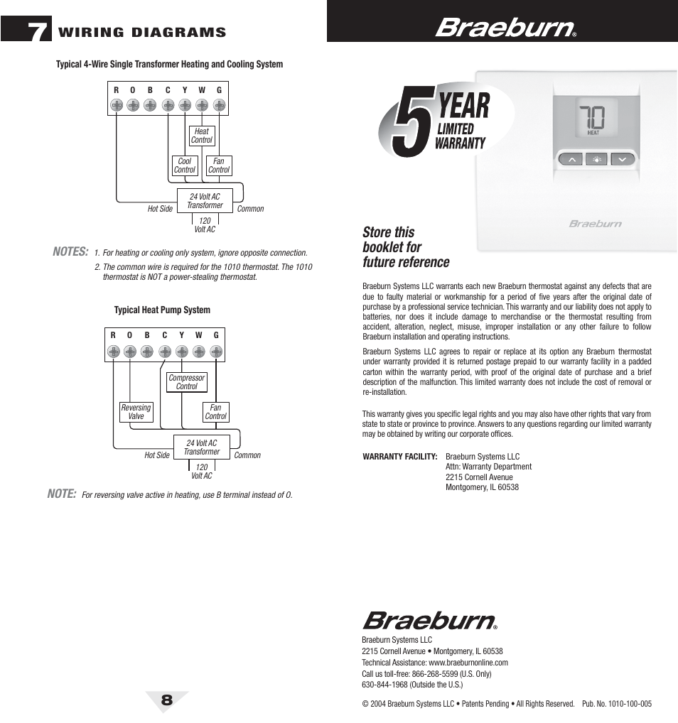 Wiring diagram for braeburn thermostat free download wiring diagram 1010 8 bck pdf store this booklet for future reference wiring cheapraybanclubmaster Image collections