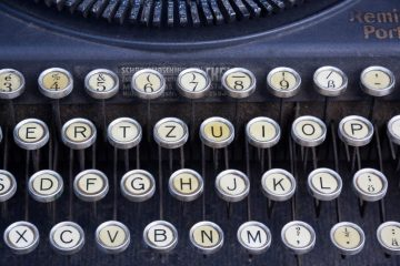 Clavier Remington, machine à écrire