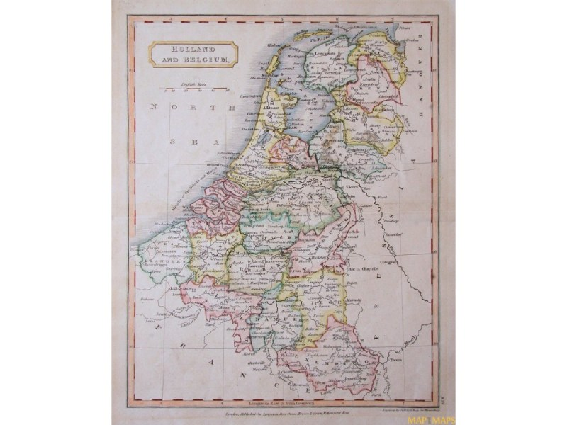 Netherlands Belgium Luxembourg old map Longman 1860 Netherlands Belgium Luxembourg antique map Longman 1860  Loading zoom