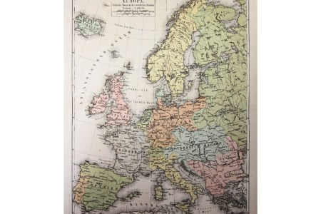 Map Of Europe 1905