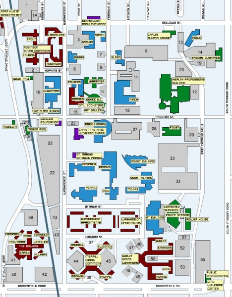 Map South And Central Campus Umich